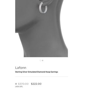 Lafonn Diamond hoops
